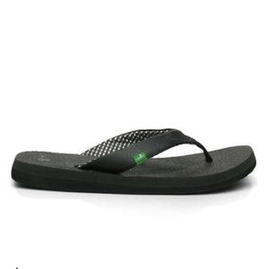 Sanuk Yoga Mat Flip Flop Black Sz 10